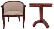Чайная группа А-10. Чайное кресло с подлокотниками и чайный столик